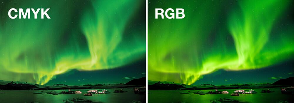 مقایسه دو رنگ RGB
