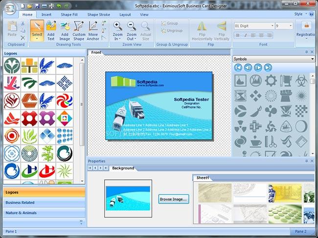 نحوه عملکرد نرم افزار طراحی کارت ویزیت